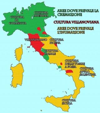 Penisola italica, usanze funebri nell'età del ferro.