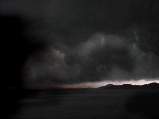 Tifone a Hong Kong.
