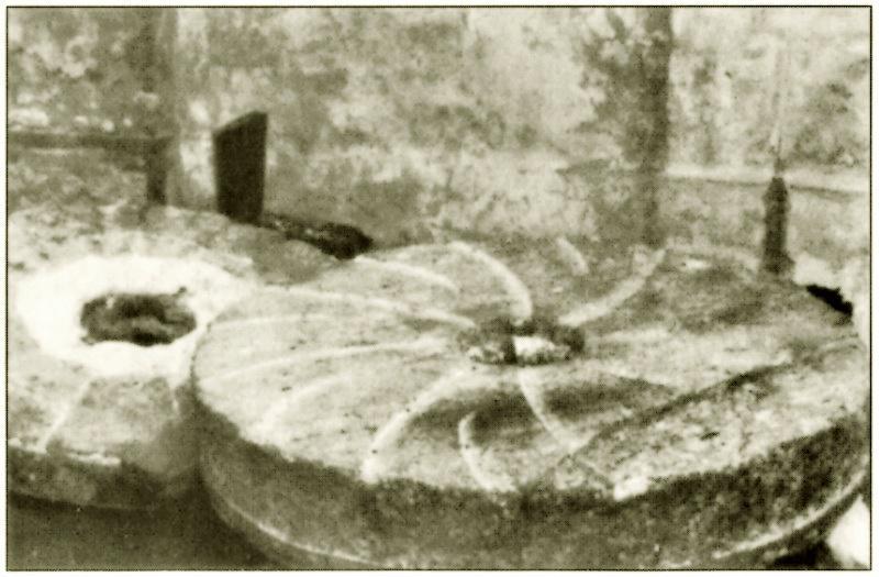 Vecchie macine recuperate nell'ex Mulino dei Sei di Battaglia Terme.