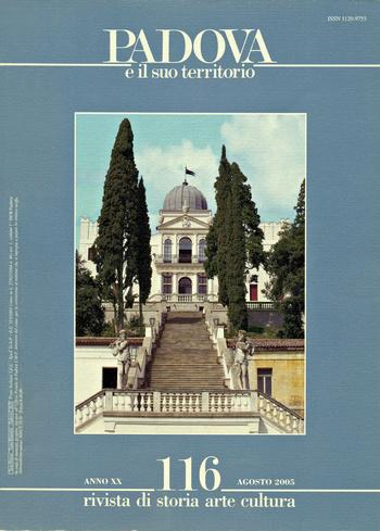 Copertina della rivista: Padova e il suo territorio, n. 116.