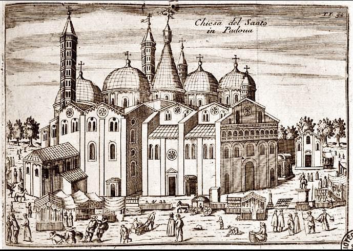 Vincenzo Maria Coronelli, Chiesa del Santo in Padova, 1697.