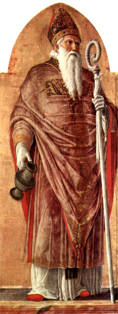 Andrea Mantegna, San Prosdocimo. Scomparto del Polittico di San Luca, 1453-1454. Pinacoteca di Brera, Milano.