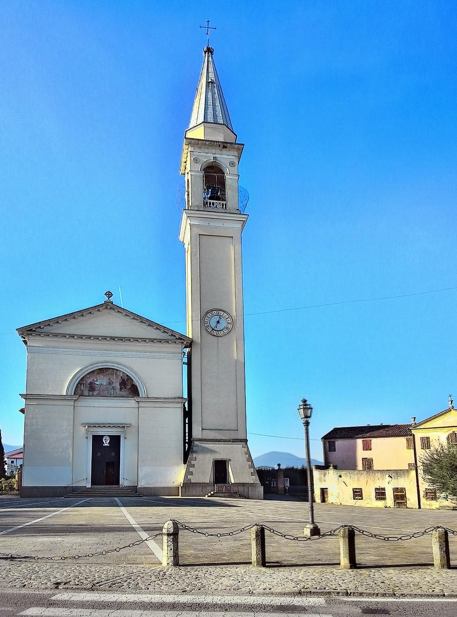 La chiesa Arcipretale di Pernumia, dedicata a Santa Giustina.