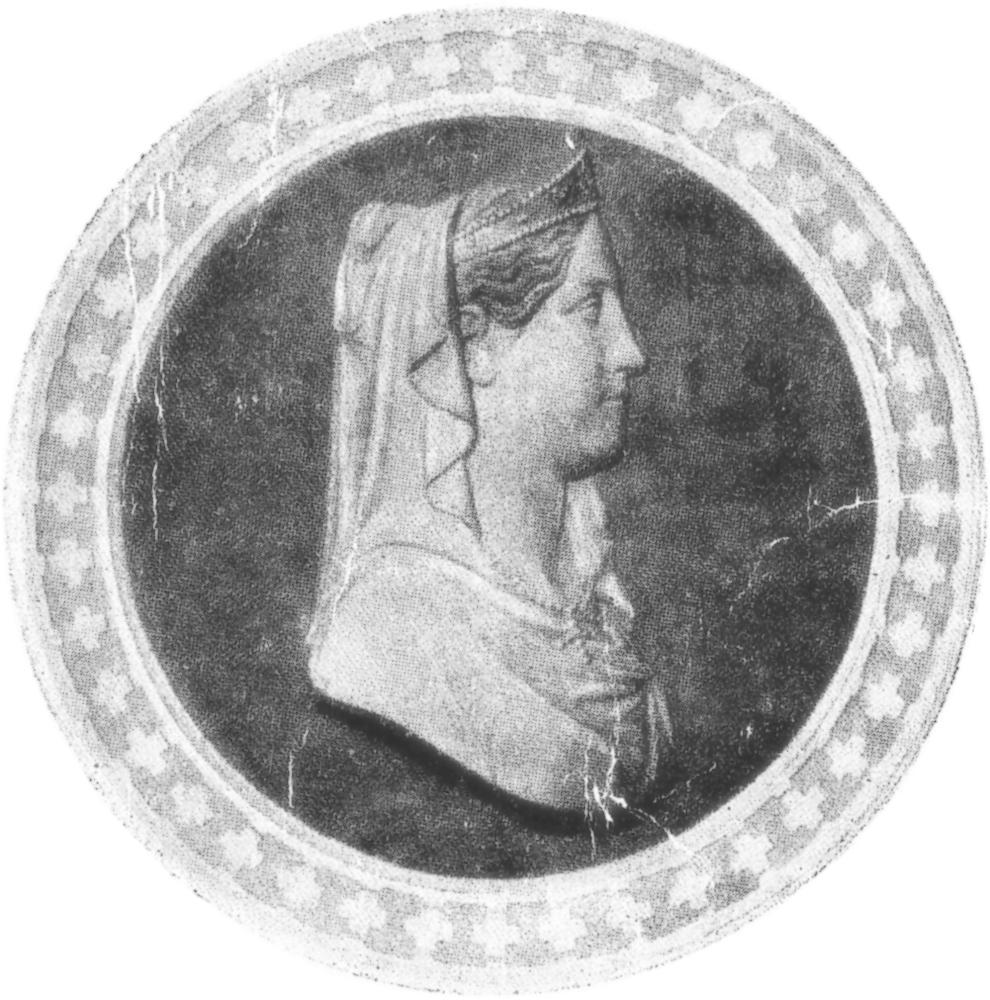 La Venerabile Maria Cristina di Savoia in un medaglione dell'incisore Schiazzi.