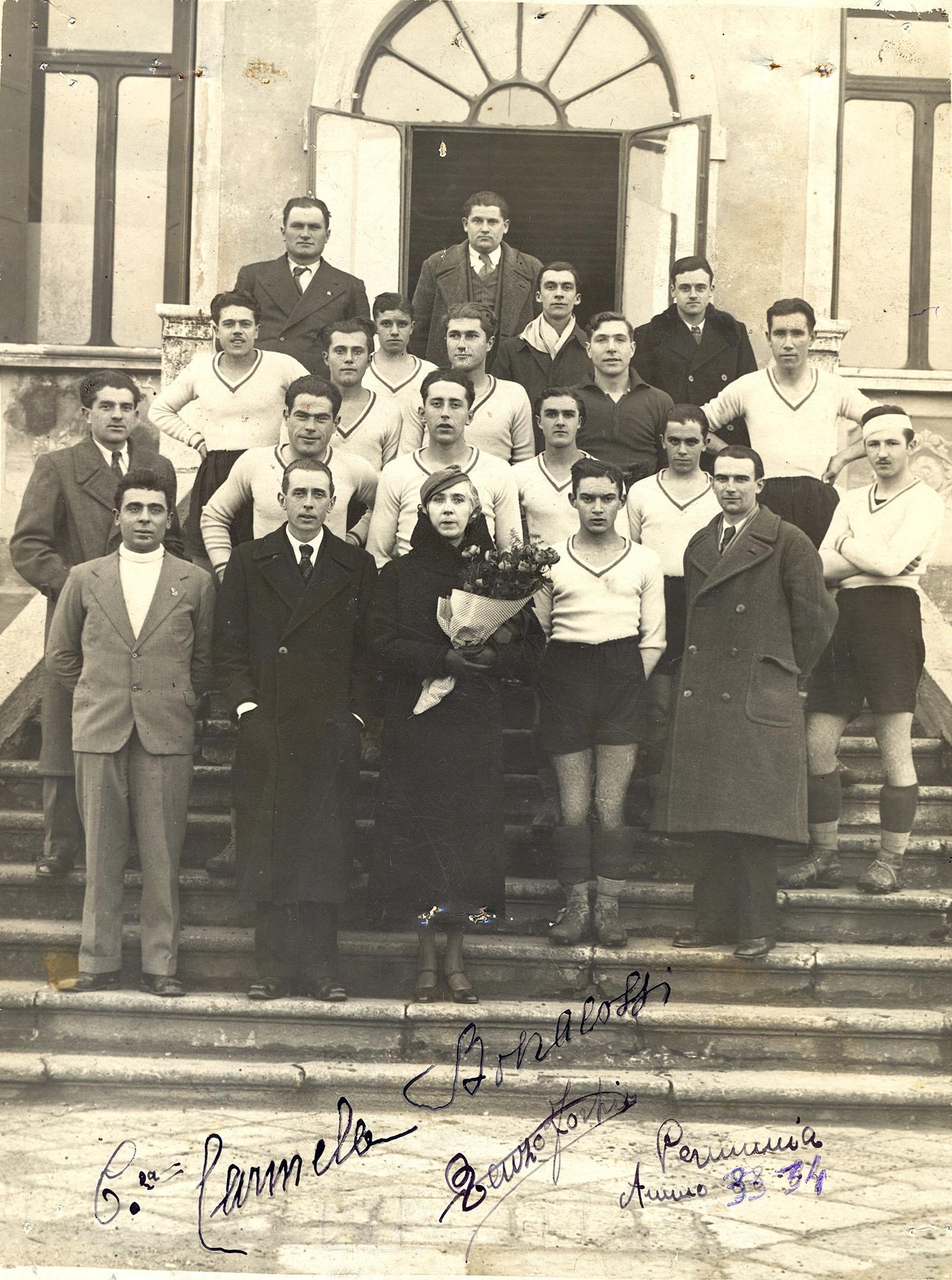 La squadra del Pernumia partecipante al campionato ULIC 1933/34.