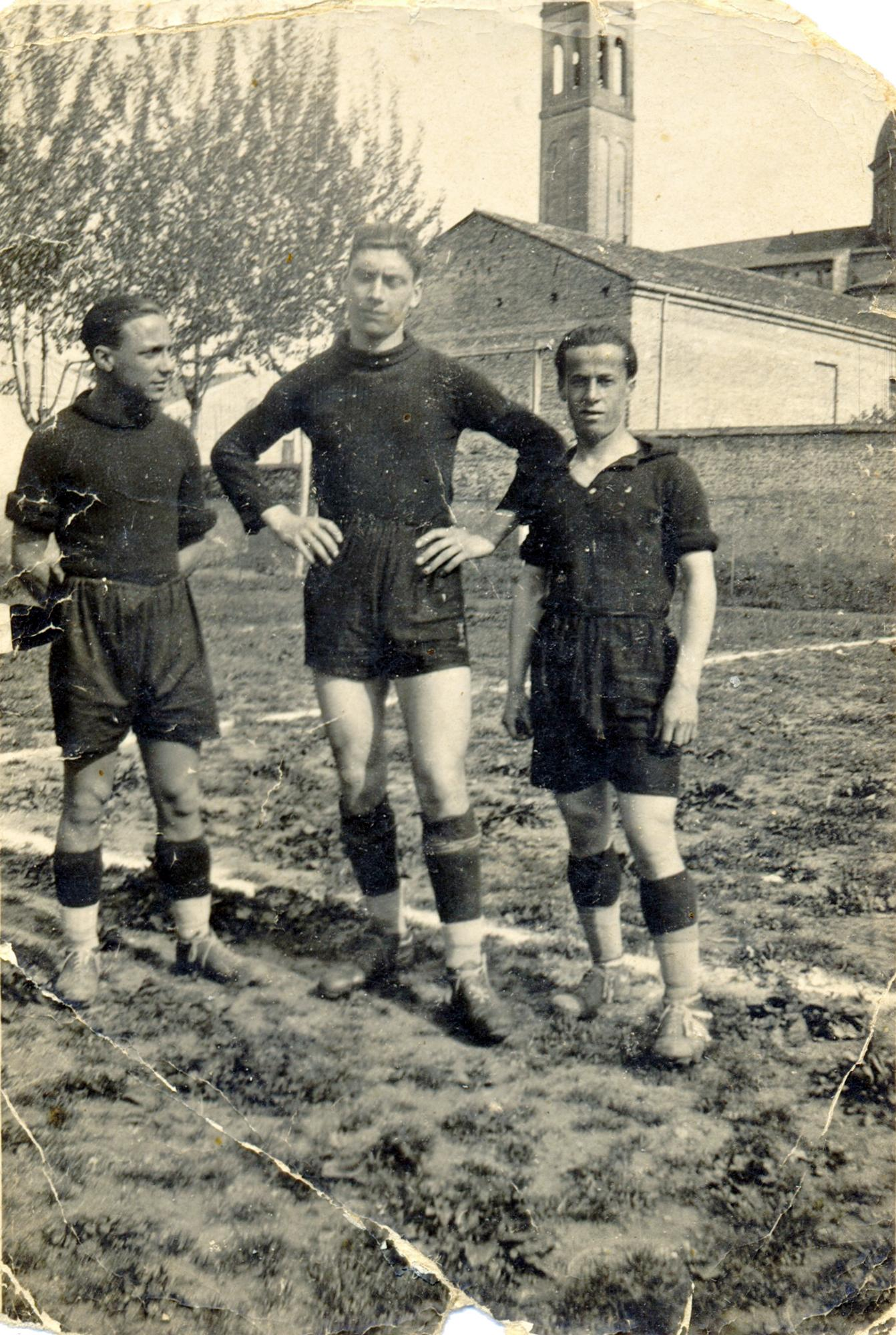 Stanghella, marzo 1938. Da sinistra: Maniero, Bortolin, De Vinch.