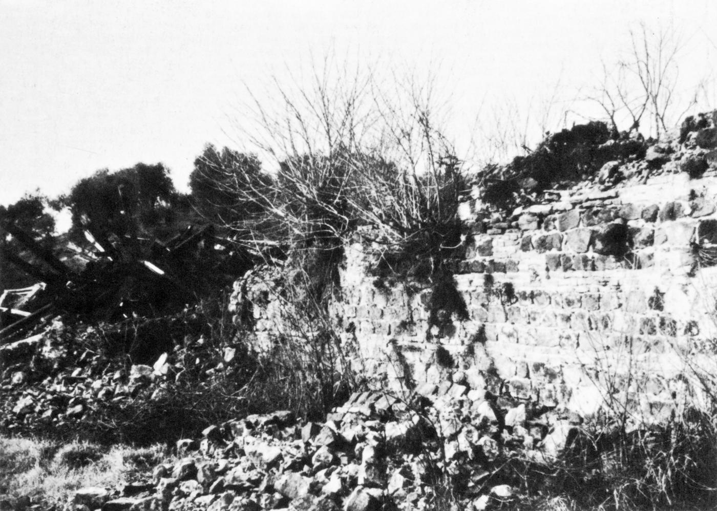 Resti dell'ex convento dopo il passaggio delle ruspe nel maggio 1971 (2).
