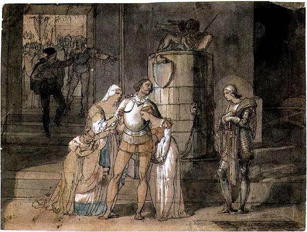 Francesco Hayez, disegno per Il Conte di Carmagnola.