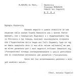 Lettera del Segretario DC di Padova del 29 settembre 1971.
