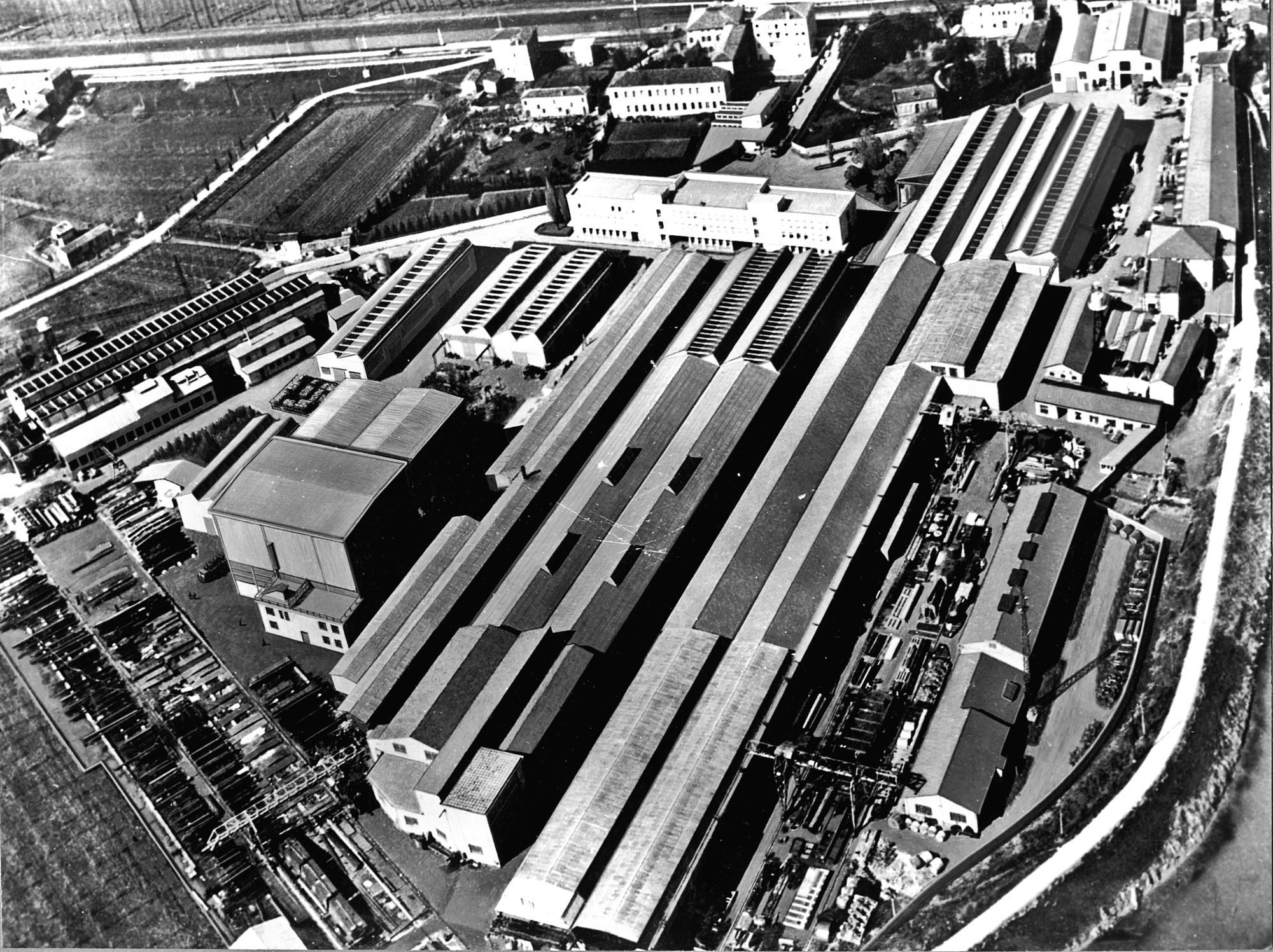 Officine Galileo di Battaglia Terme, foto aerea del 1965.