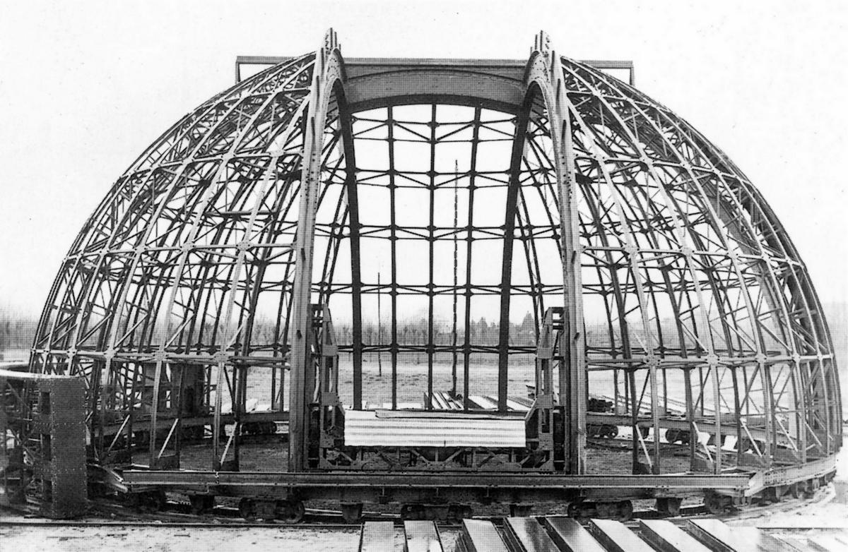 Osservatorio astronomico di Asiago, struttura della cupola rotante.