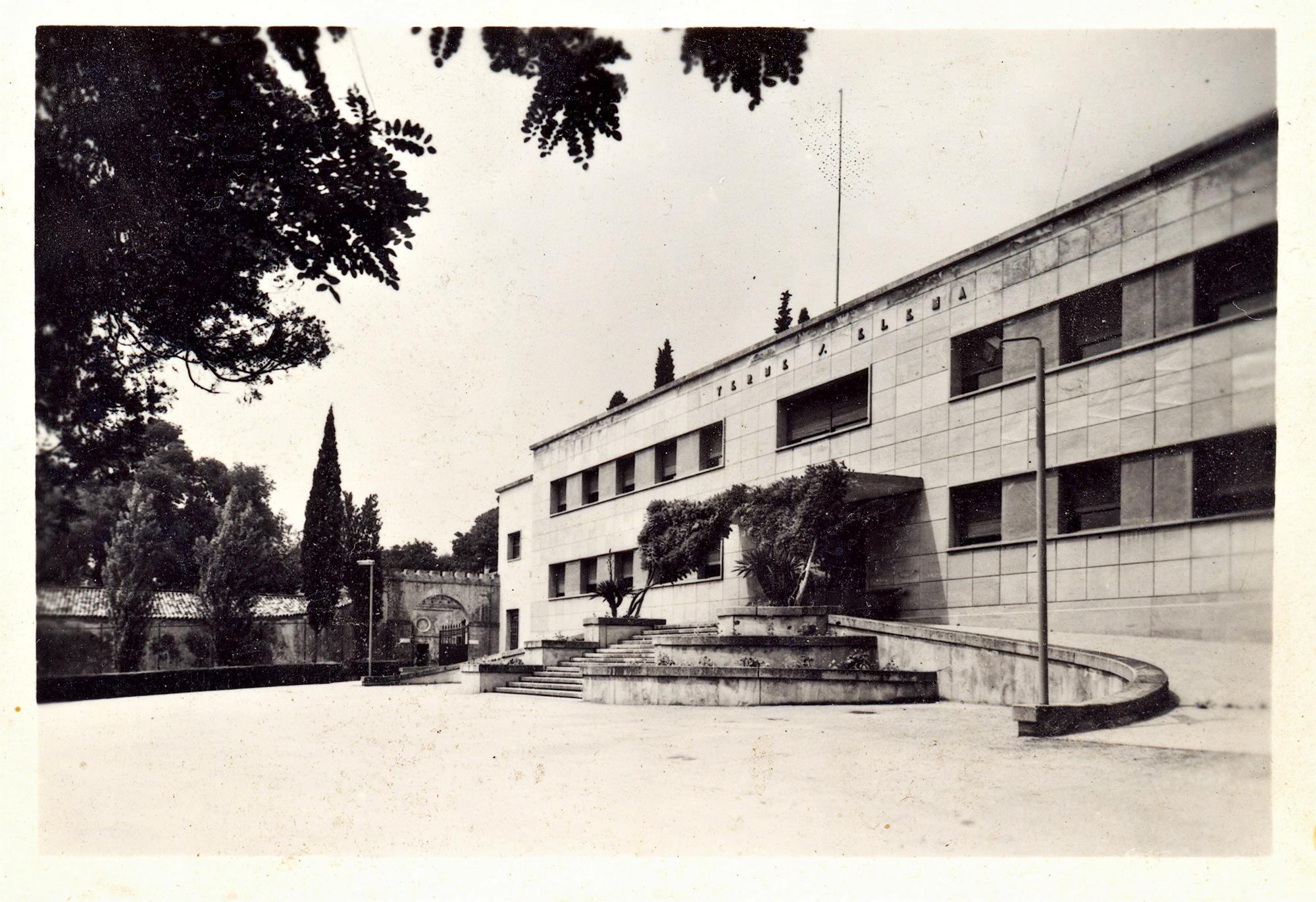 Il nuovo padiglione delle terme di S. Elena all'inizio degli anni '60.