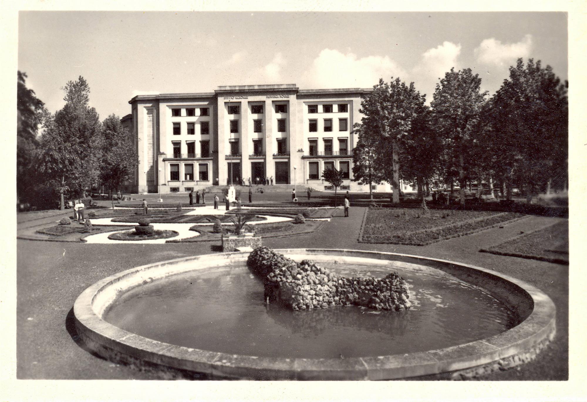 Lo stabilimento INPS di Battaglia Terme all'inizio degli anni '60.