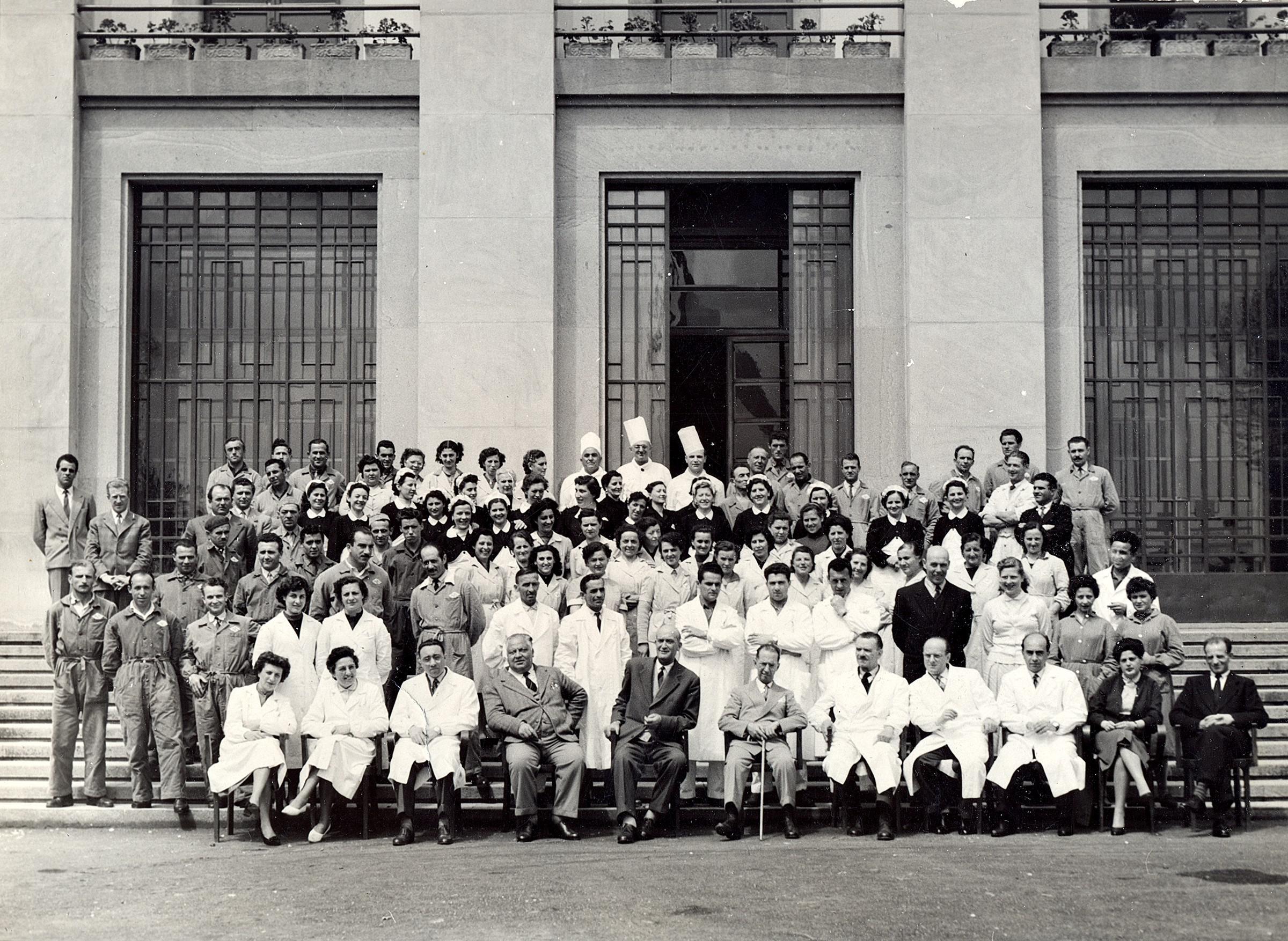 Dirigenti e lavoratori INPS di Battaglia Terme. Inizio anni '50.
