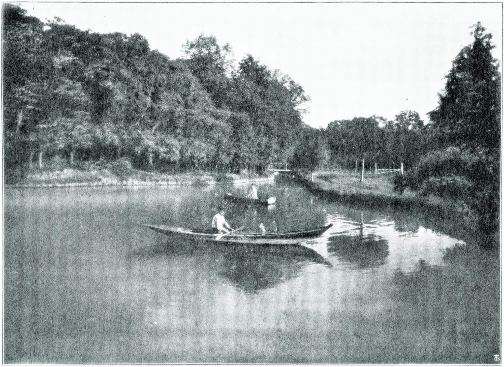 Terme di Battaglia, il laghetto d'acqua calda.
