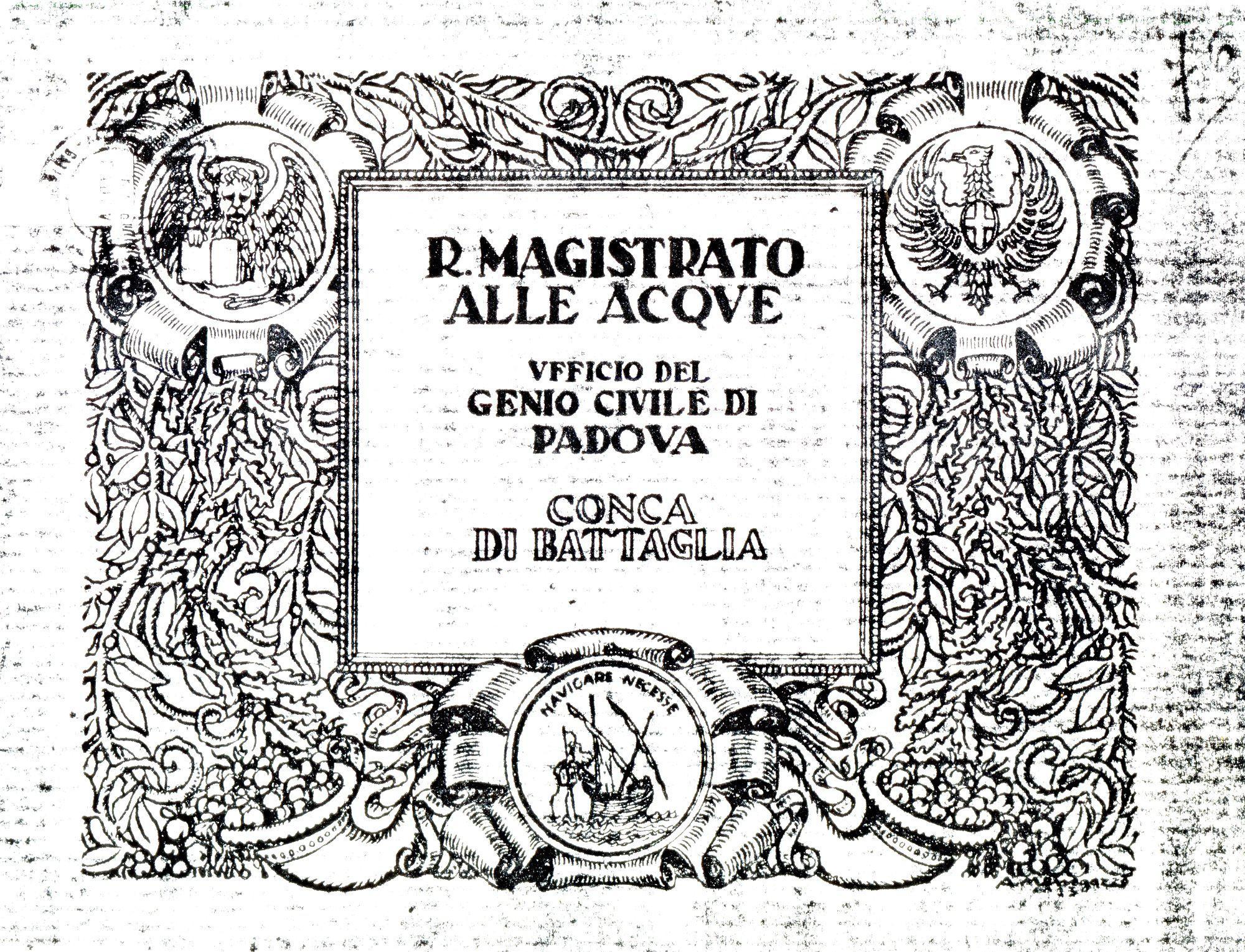 Conca di Battaglia, copertina.