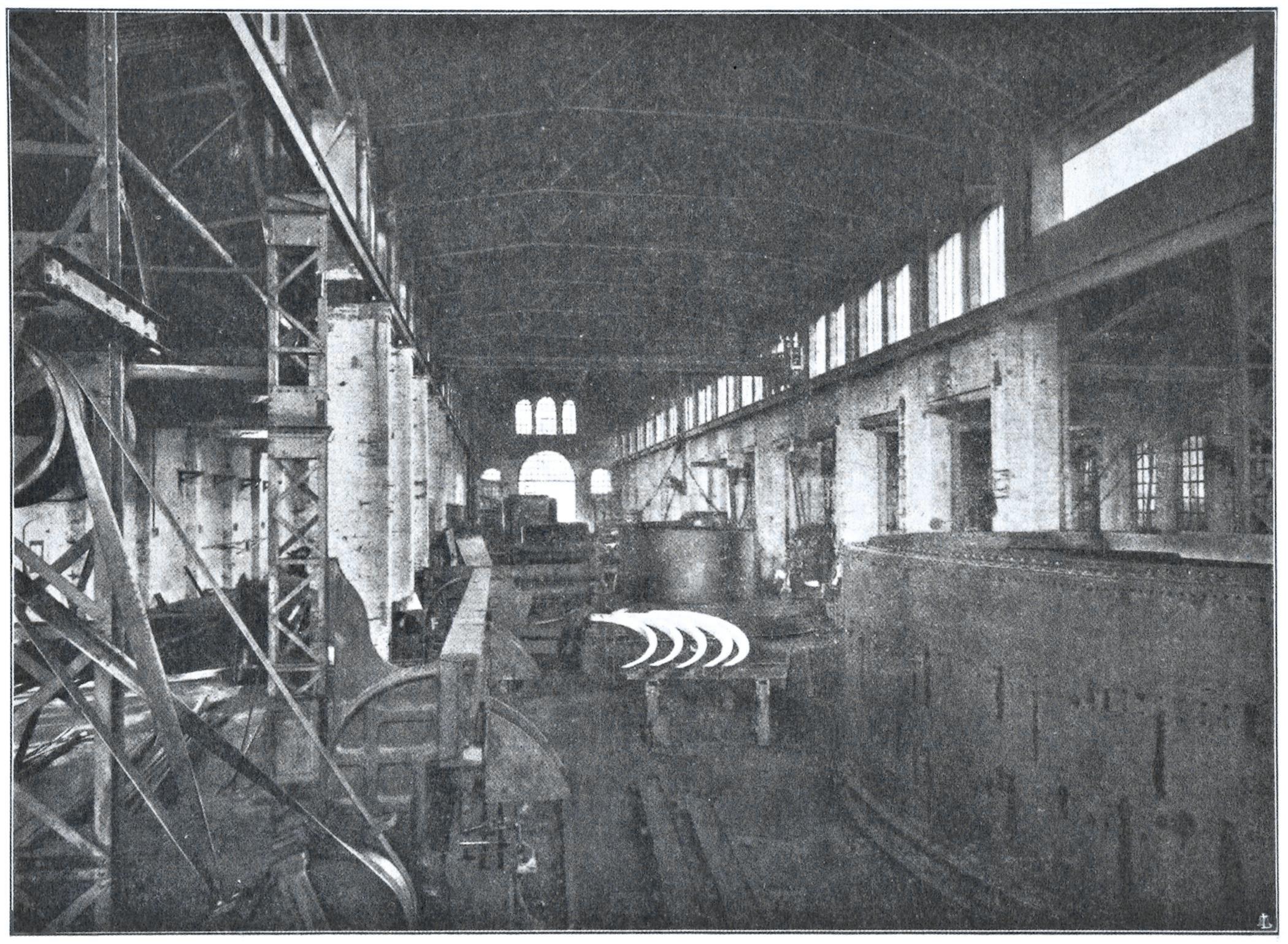 Officine di Battaglia, reparto Calderai (1925).