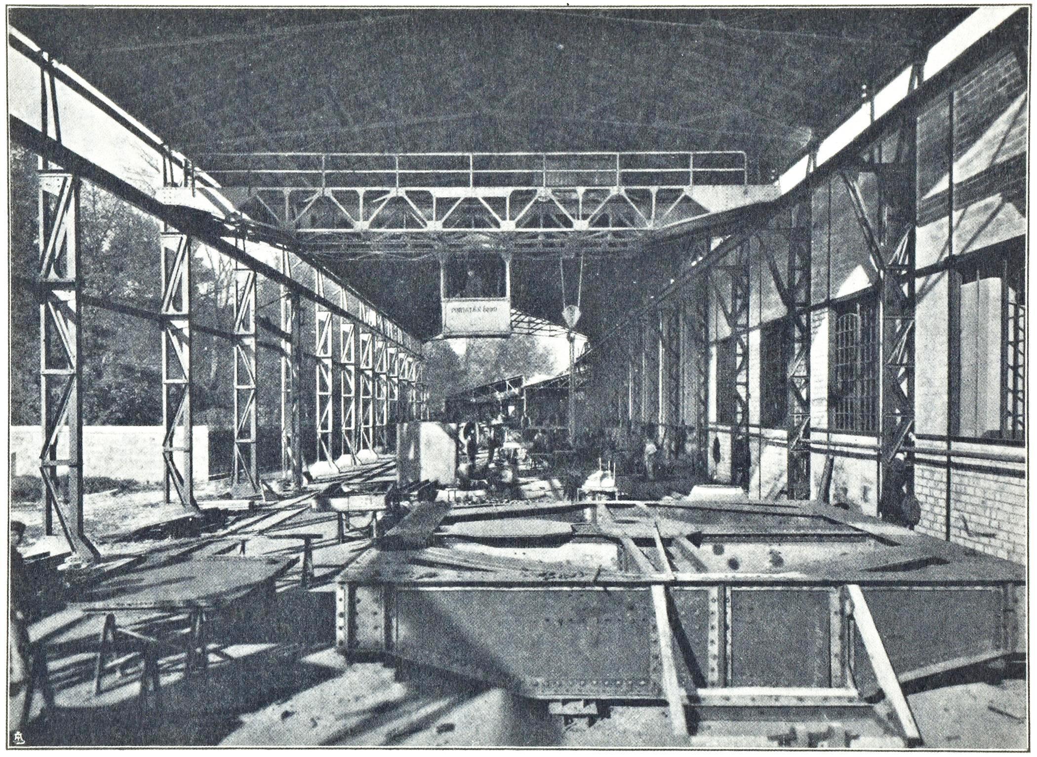 Officine di Battaglia, reparto Chiodatura (1925).