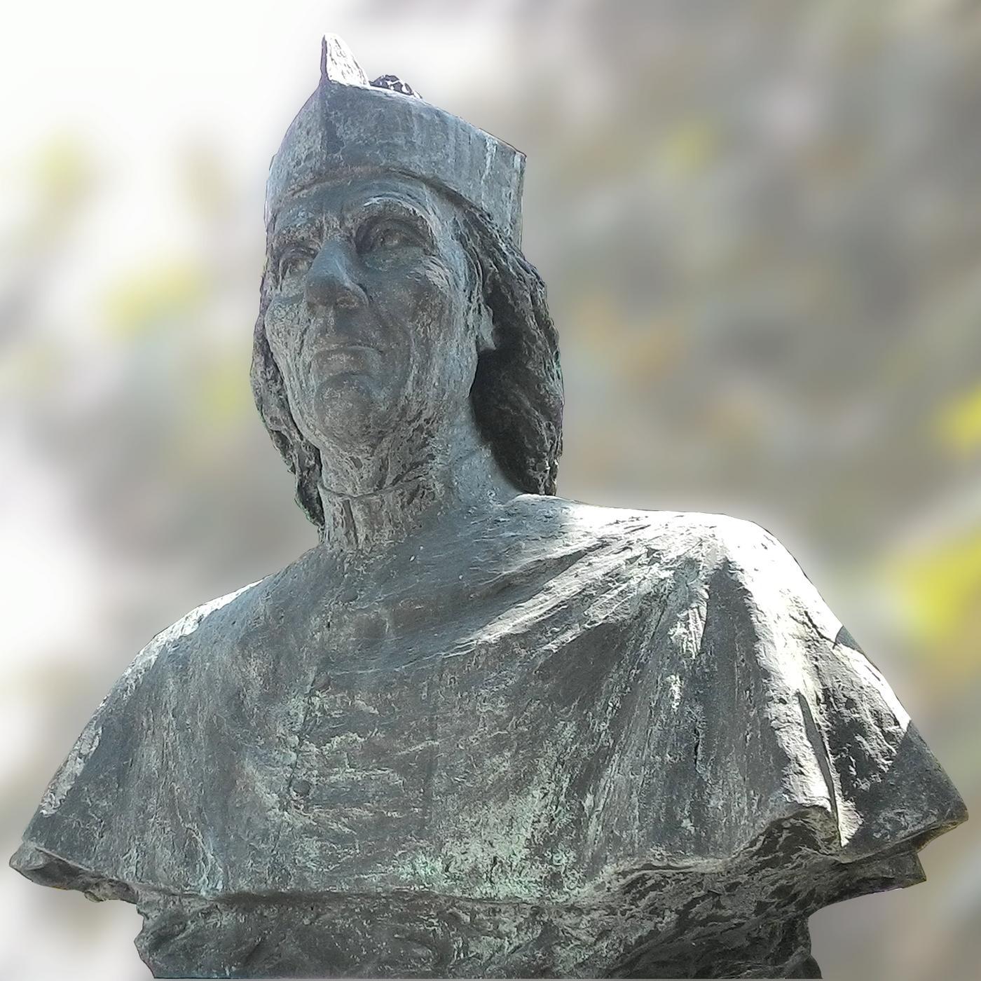 Il busto di don Domenico Leonati realizzato da Carlo Balliana, Battaglia Terme.