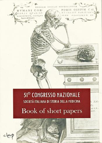 51° Congresso Nazionale Società Italiana di Storia della Medicina - copertina