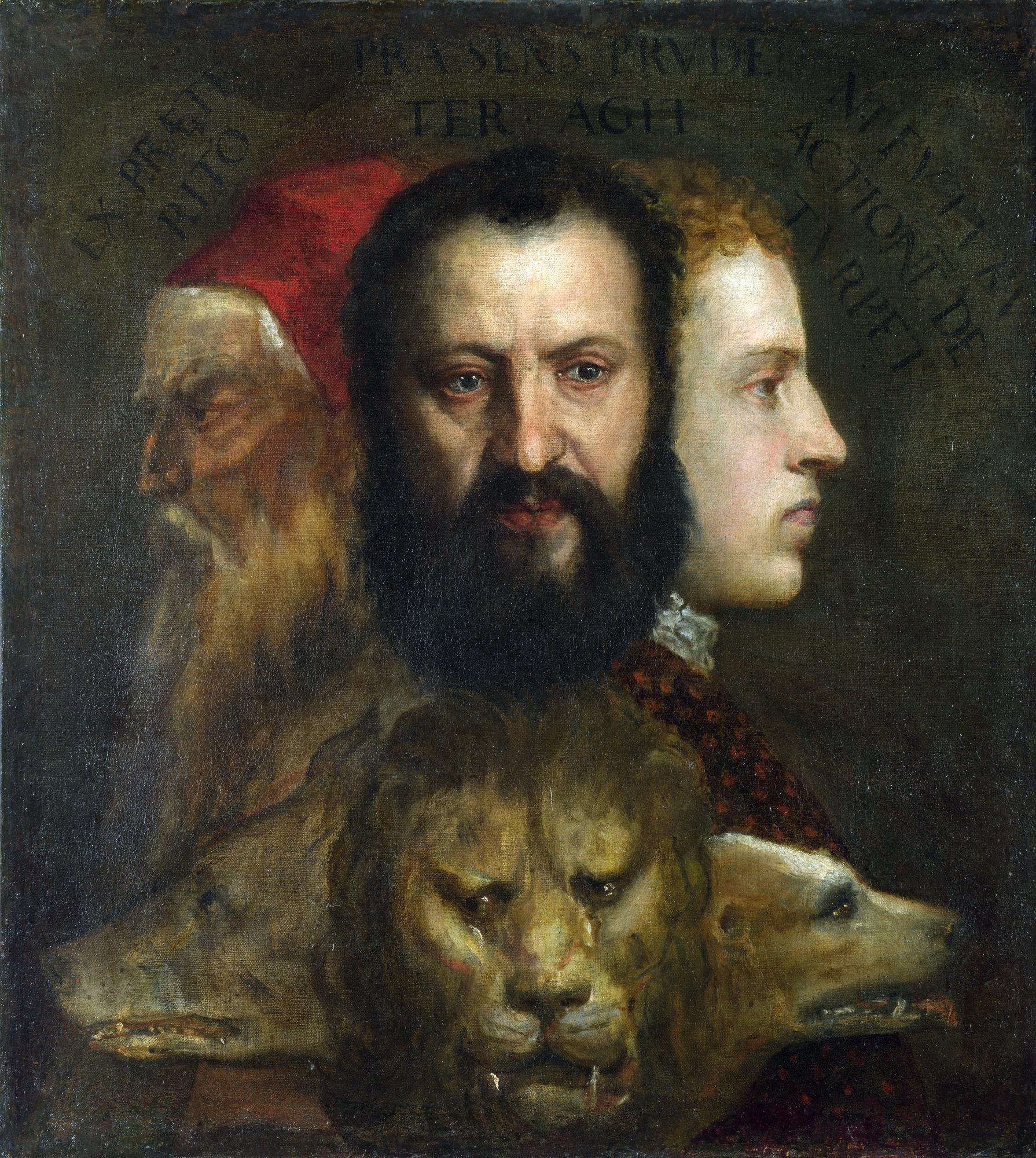 Tiziano, Allegoria della Prudenza, 1565-1570 ca. Londra, National Gallery.