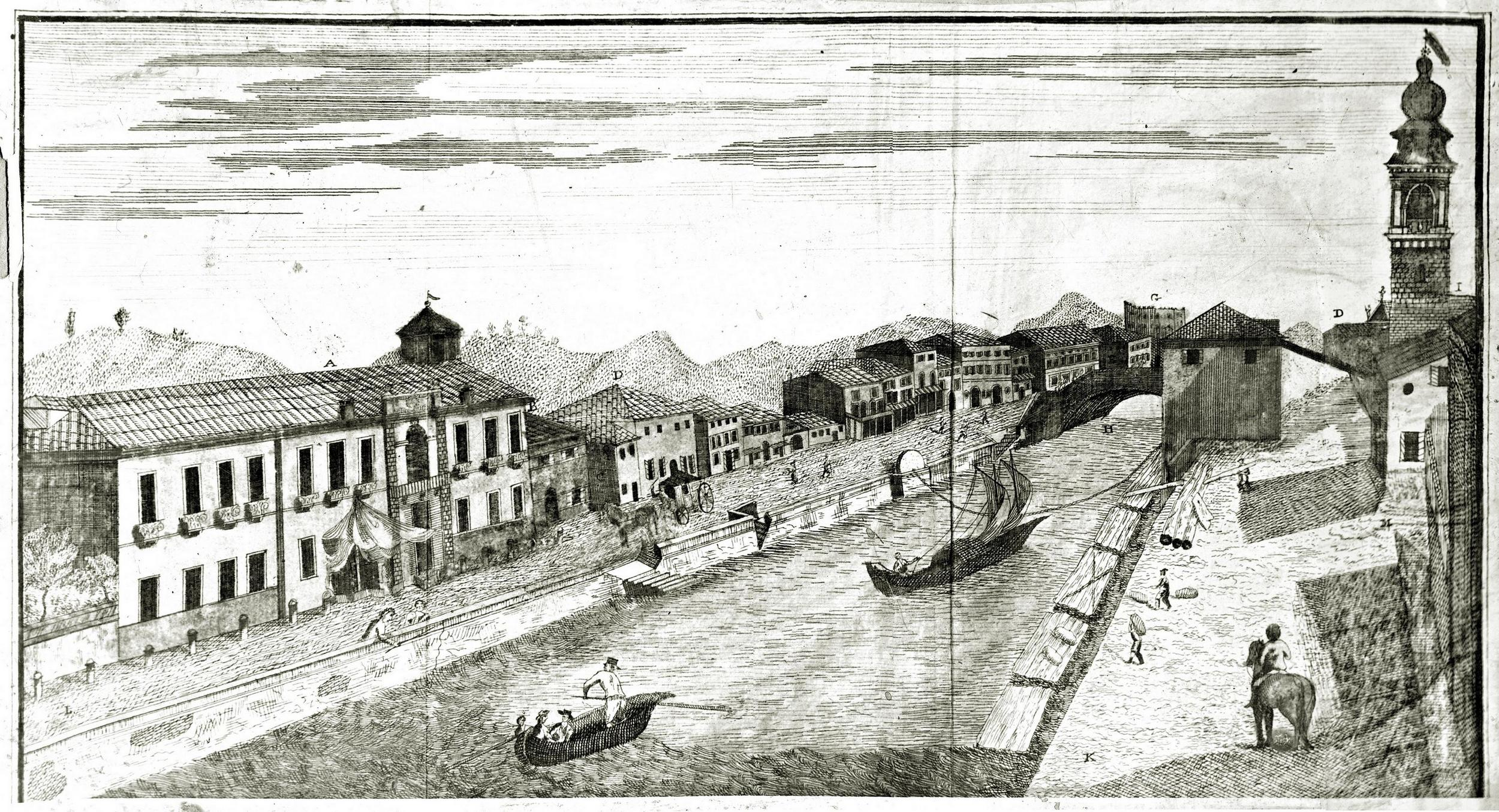 Battaglia in una incisione pubblicata nel 1796.