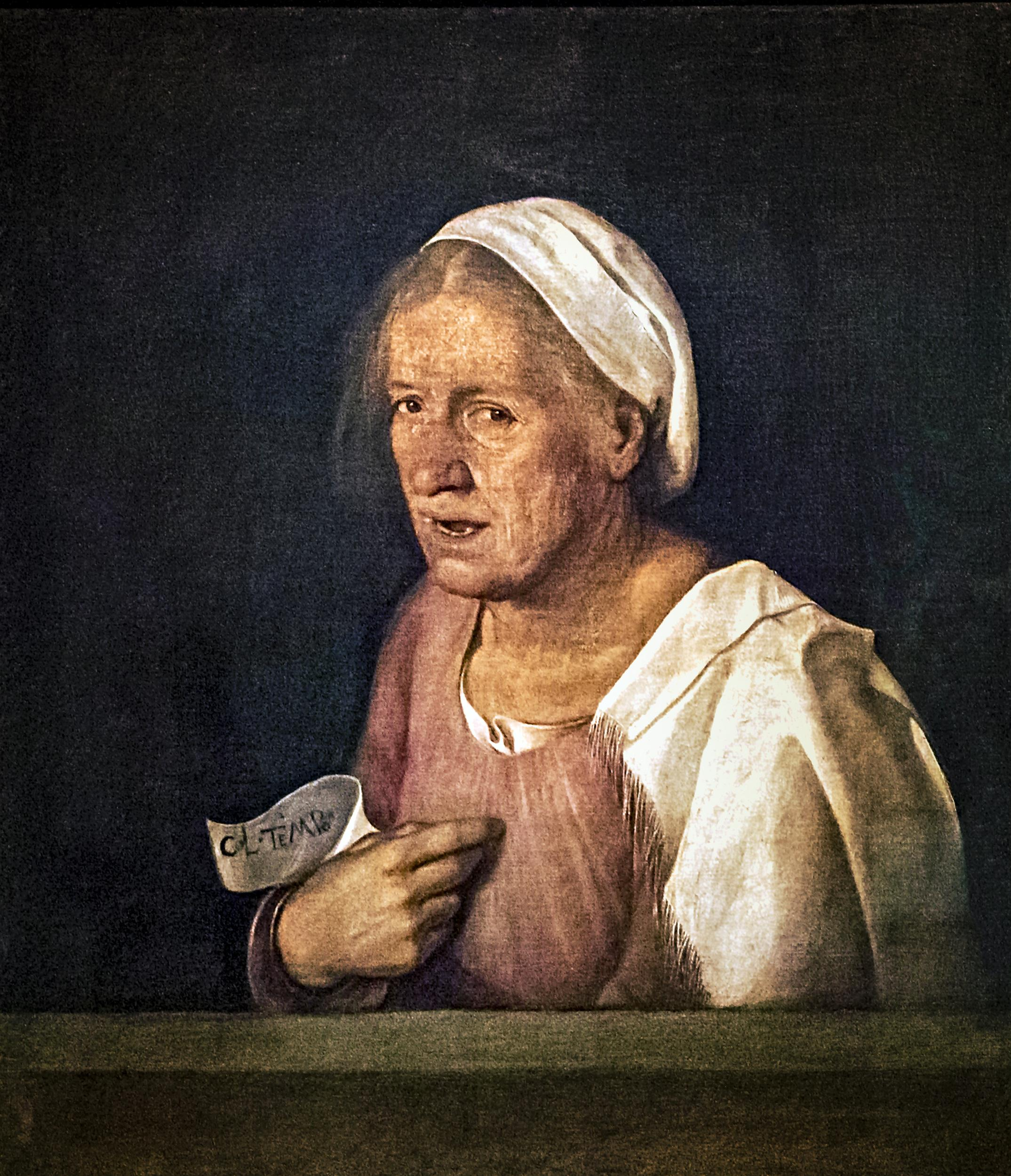 Giorgione, La Vecchia, 1506 ca. Venezia, Gallerie dell'Accademia.