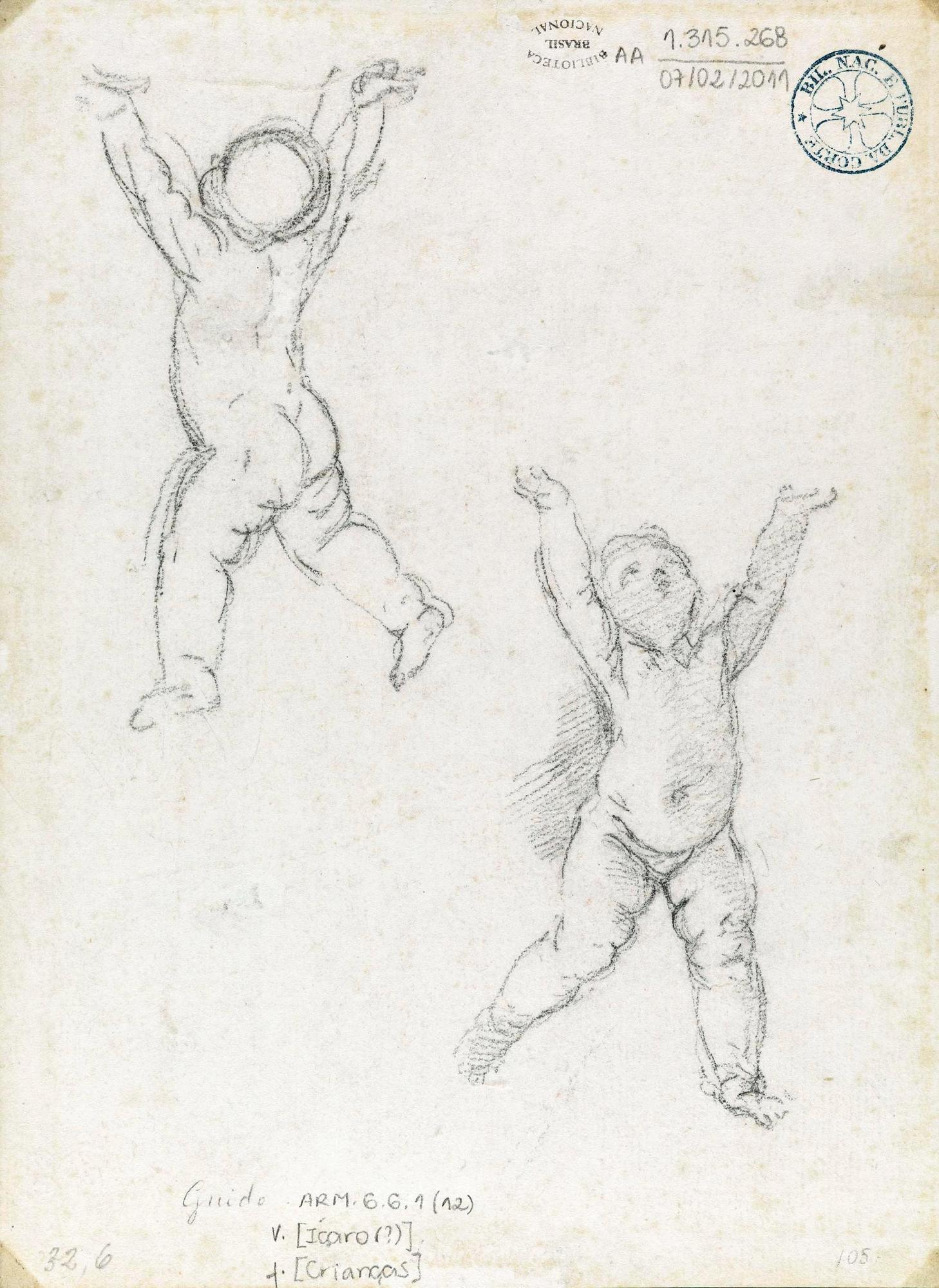 Guido Reni, Studio per due putti, XVI-XVII sec. Rio de Janeiro.