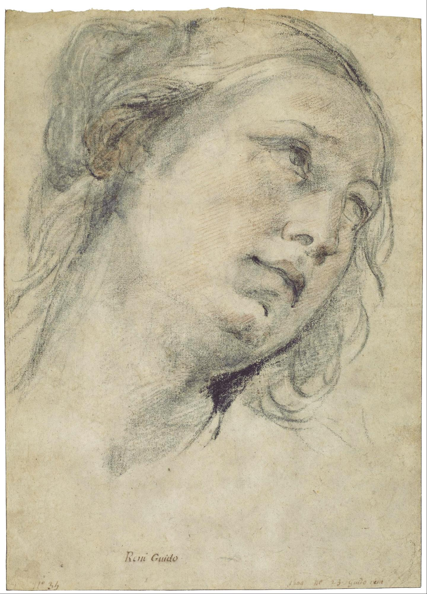 Guido Reni, Testa di giovane donna, 1609 ca. Houston, Museum of Fine Arts.