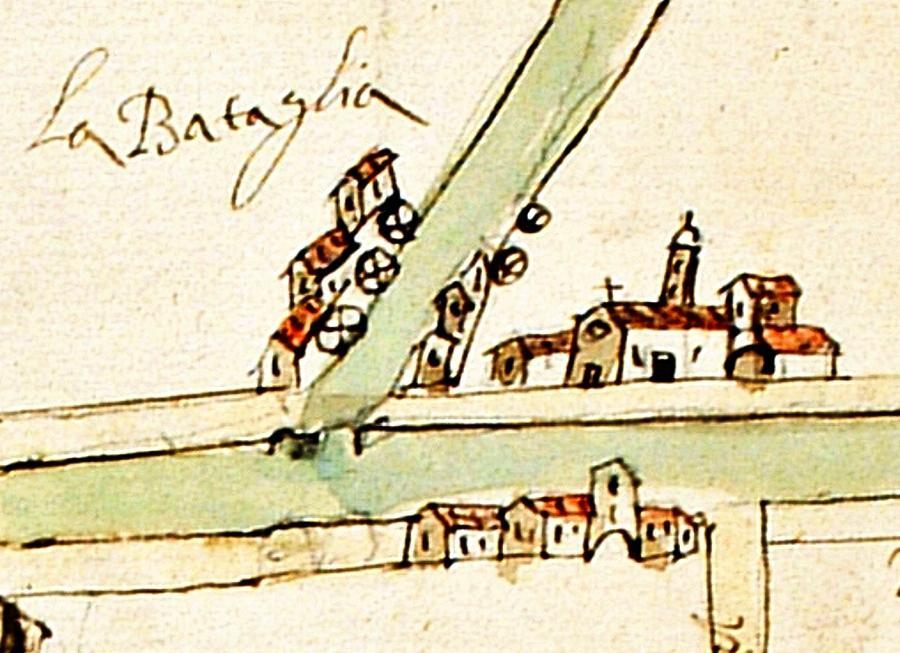 Battaglia in un disegno del 1676 ca., copia di originale di ignoto eseguita da Giovanni Falcono..