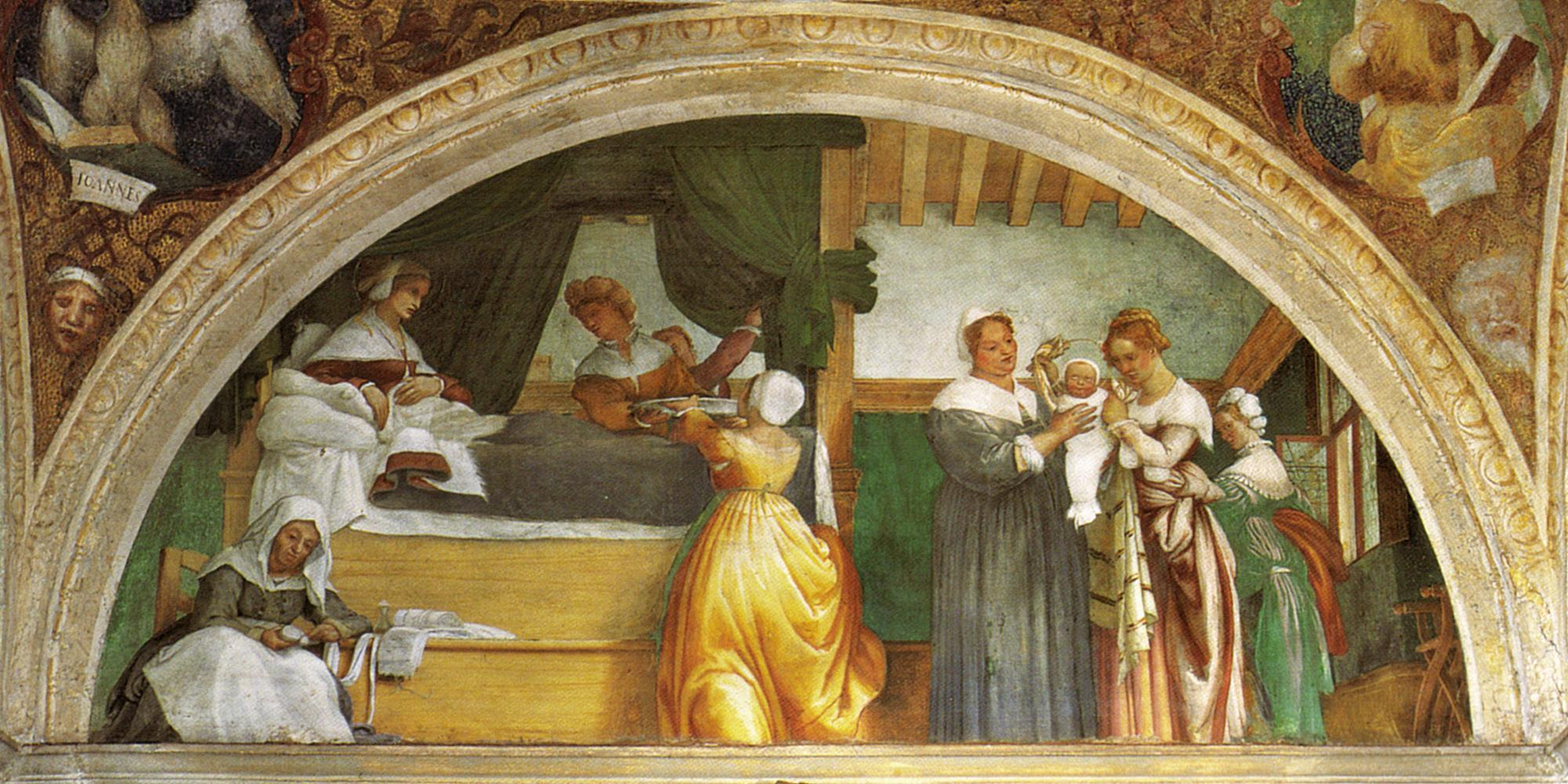 Lorenzo Lotto, Natività di Maria, 1525. Bergamo, chiesa di S. Michele al Pozzo Bianco.