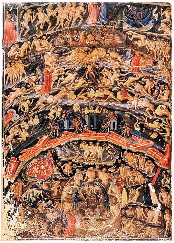 Bartolomeo di Fruosino, Inferno, dalla Divina Commedia di Dante.