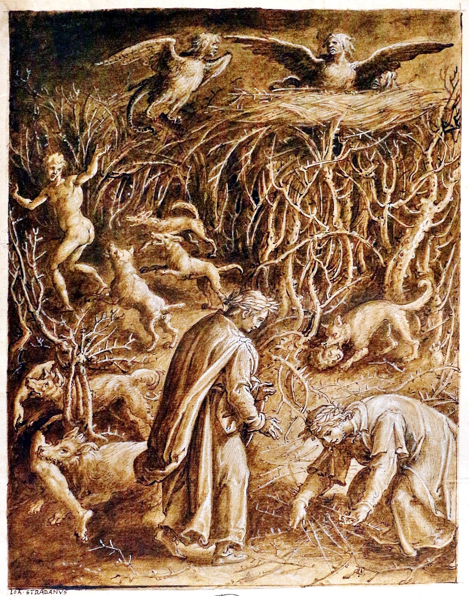 Jan van der Straet (Giovanni Stradano), Violenti contro se stessi, Inferno Canto XIII.