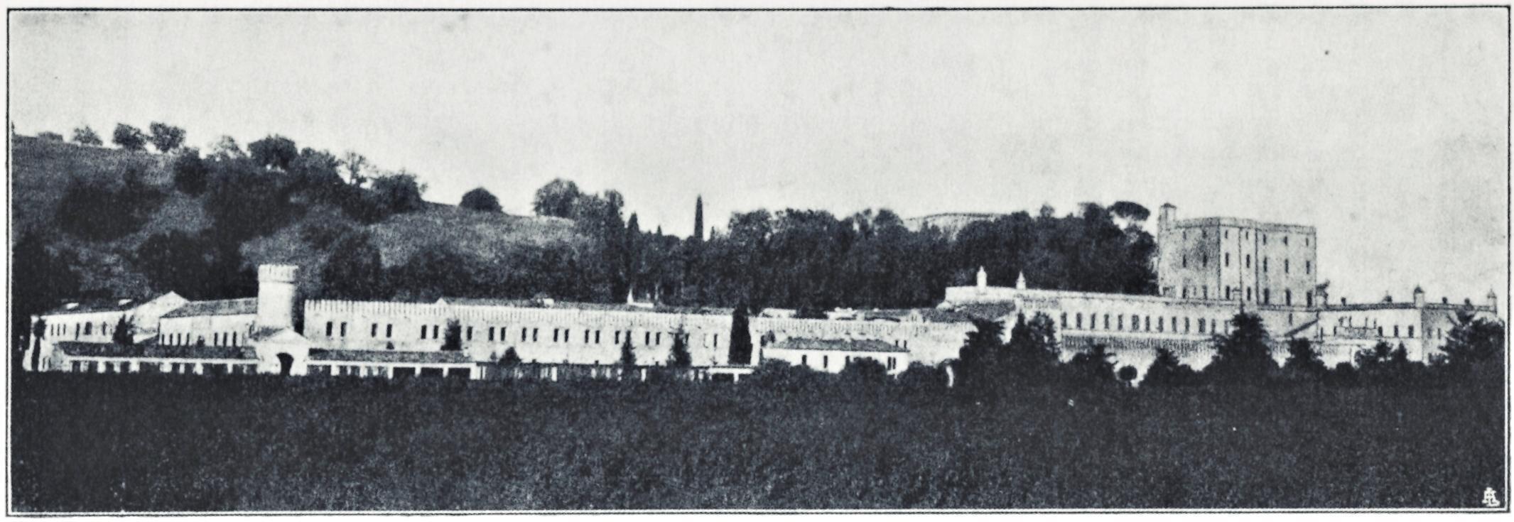 Battaglia - Terme, Veduta generale del castello Catajo (1925).