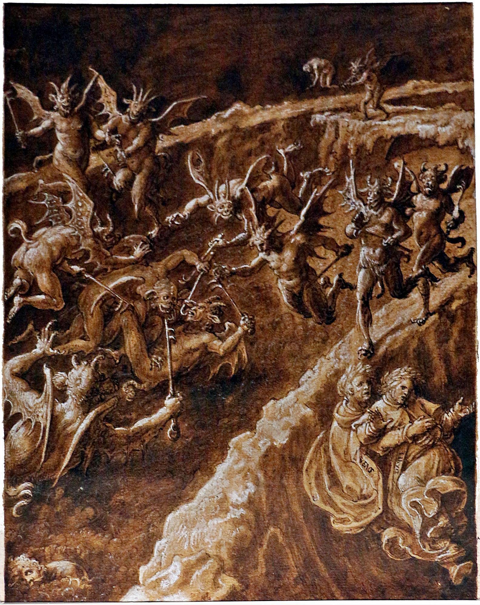 Giovanni Stradano, I barattieri. Inferno, Canto XXI.
