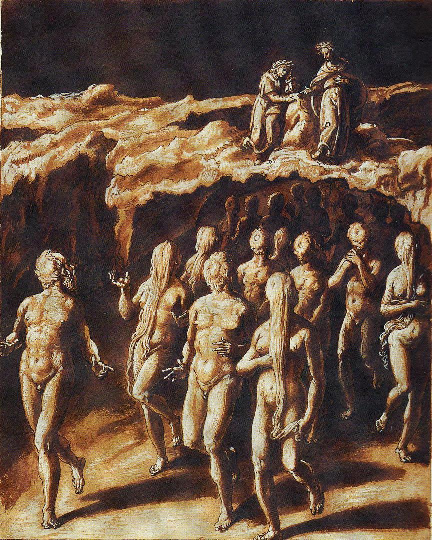 Giovanni Stradano, Gli indovini. Inferno, Canto XX.