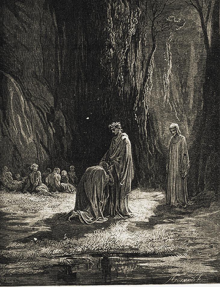 Gustave Doré, Virgilio e Sordello (Purgatorio, Canto VII).
