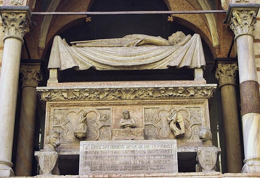 Tomba di Cangrande della Scala. Arche scaligere, Verona.