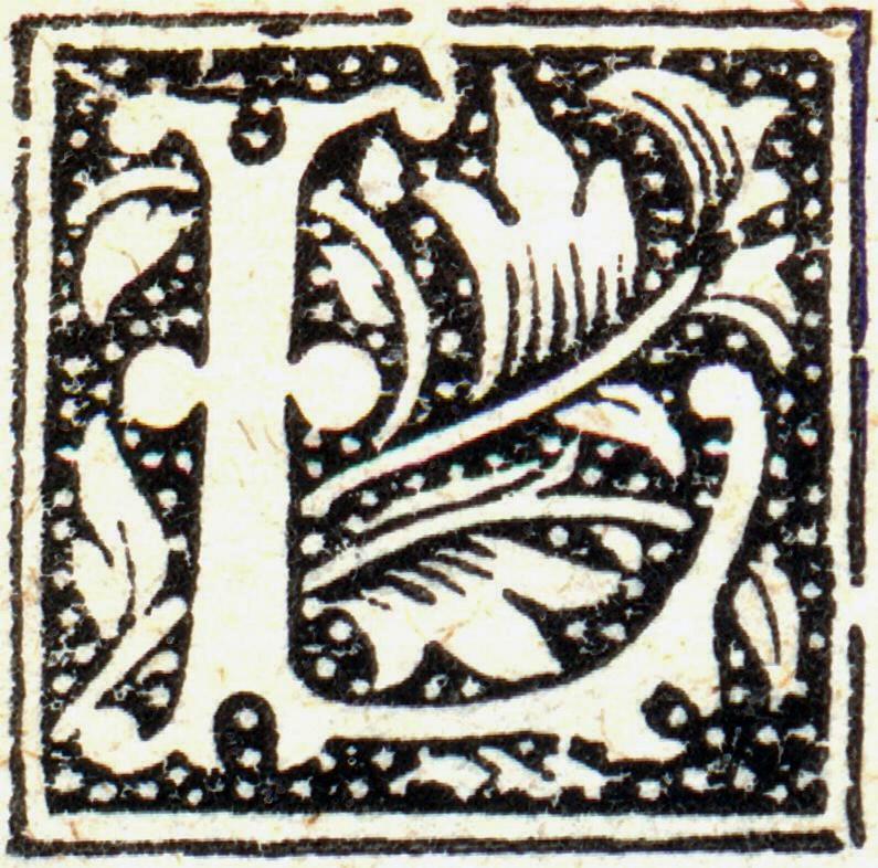 Lettera L, capolettera.