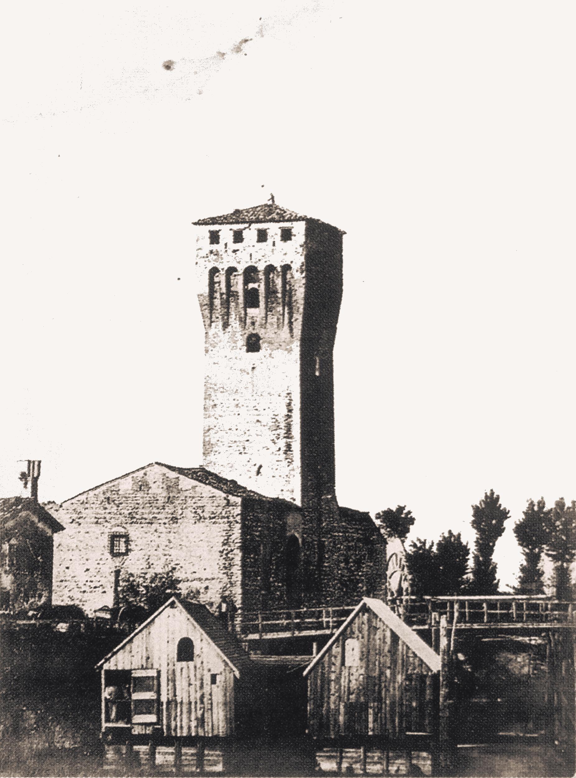 Mulini galleggianti a San Martino della Vaneza (Cervarese Santa Croce), 1870.