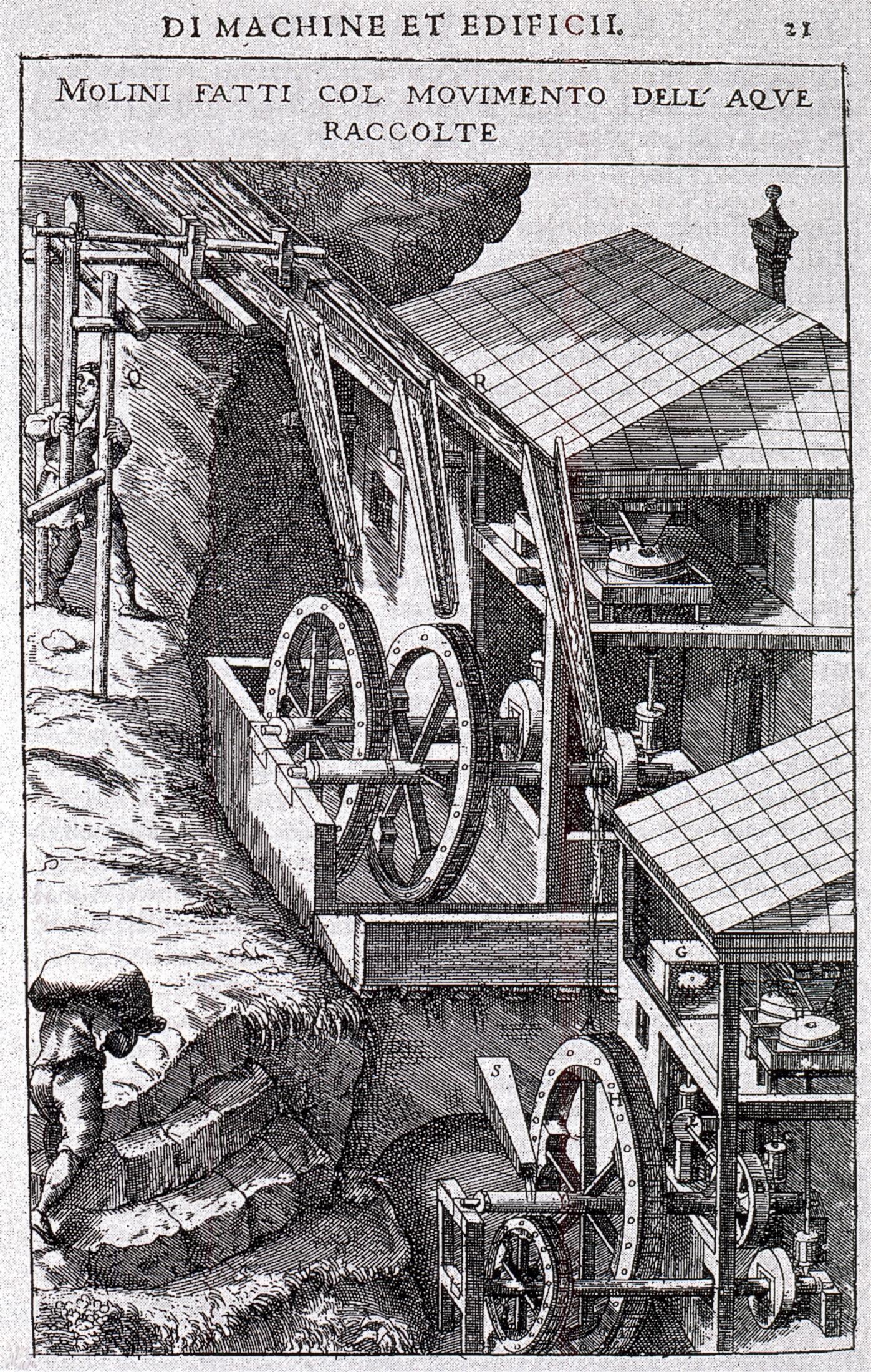 Un'immagine efficace del mulino a coppedello dei Colli Euganei.
