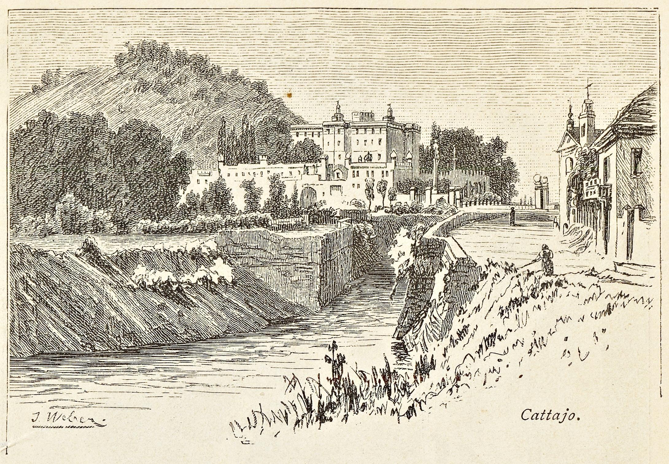 Il Castello del Catajo, opera grandiosa della famiglia degli Obizzi.