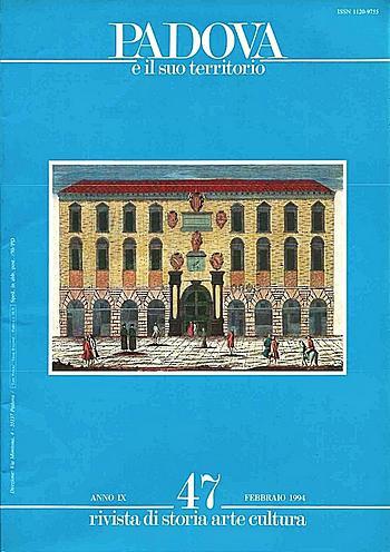 Copertina della rivista: Padova e il suo territorio, n. 47.