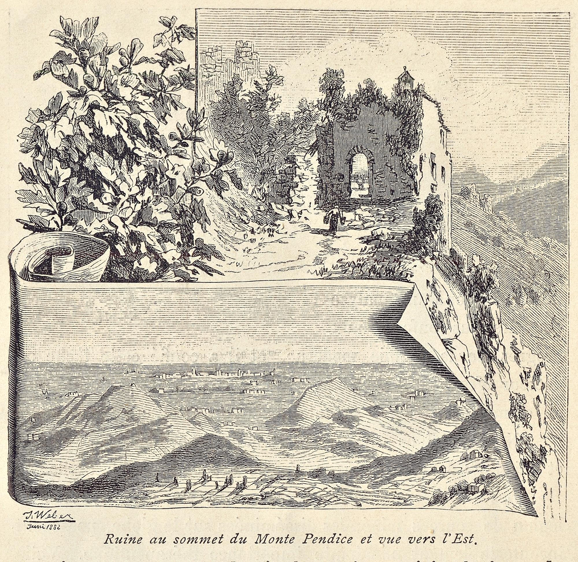 I resti della rocca costruita sulla sommità del Monte Pendice.