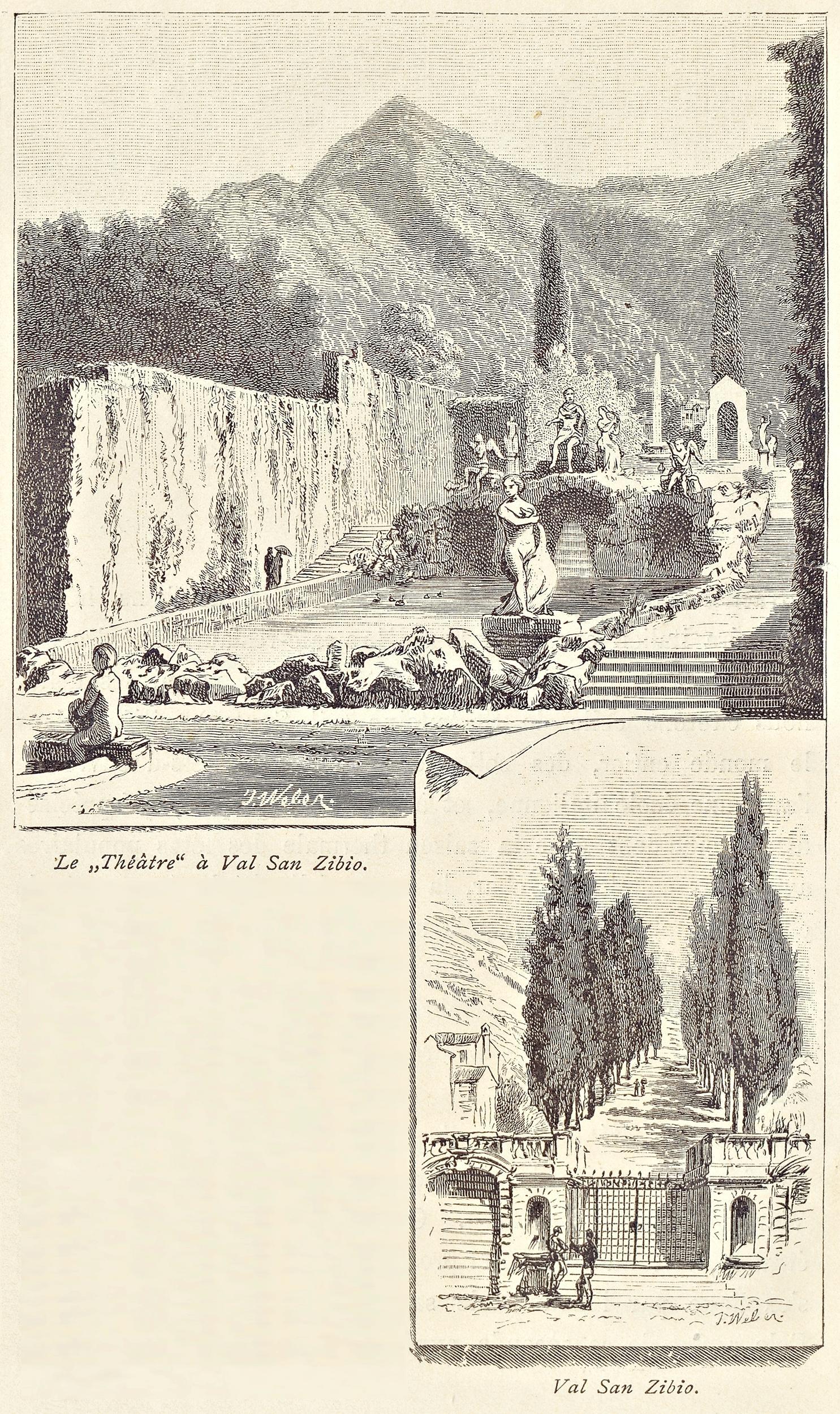 Valsanzibio, Giardini di Villa Barbarigo e viale.