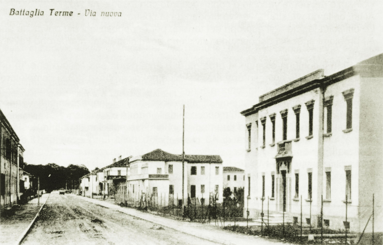 Battaglia Terme, Via Nuova negli anni '30.