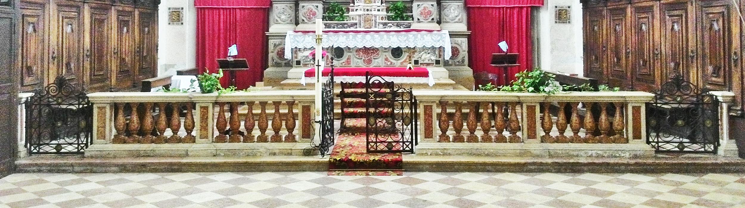 Balaustra della vecchia chiesa di Battaglia Terme.