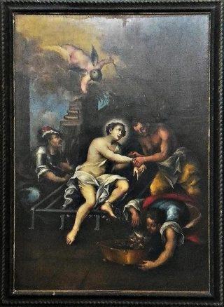 Il martirio di S. Lorenzo.
