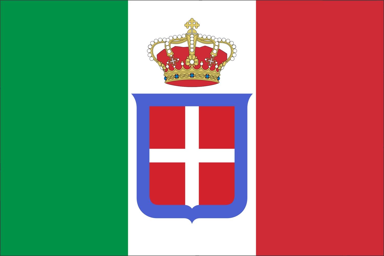 La bandiera del Regno d'Italia (1861-1946).