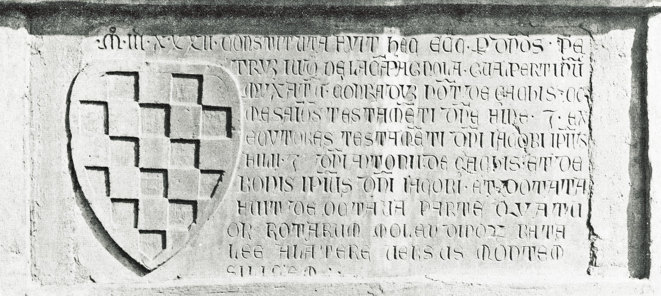 L'epigrafe del 1332, importante documento della vita cristiana di Battaglia Terme.